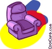 sofa chair, living room, furniture Vector Clipart picture