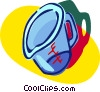 Vector Clip Art graphic  of a measuring cup
