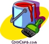 paint can, paintbrush Vector Clip Art picture
