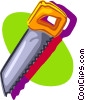 Vector Clipart picture  of a hand saw