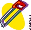 Vector Clipart graphic  of a hacksaw