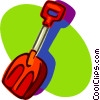 small snow shovel Vector Clip Art picture