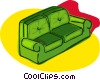 Vector Clipart graphic  of a sofa