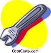 adjustable wrench, tool Vector Clip Art graphic