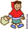 girl little red riding hood Vector Clip Art image