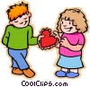 Vector Clip Art graphic  of a young love