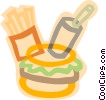 decorative symbol, fast food Vector Clipart graphic
