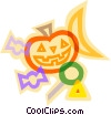 decorative symbol, Halloween, pumpkin Vector Clipart picture