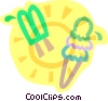 Vector Clipart graphic  of a cold treats on a hot day