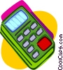 calculator, office stationary Vector Clipart illustration