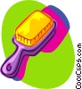 Vector Clip Art graphic  of a brush comb