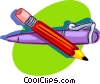 Vector Clip Art picture  of a pencil and pen