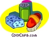 Vector Clipart graphic  of a clean up time