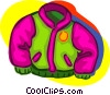Vector Clip Art graphic  of a warm jacket