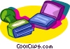 Vector Clipart image  of a rubber stamp pad