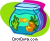 goldfish bowl Vector Clip Art picture
