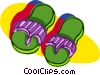 Vector Clipart picture  of a sandals