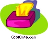 Vector Clipart image  of a Kleenex box