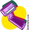 Vector Clip Art picture  of a unisex razor