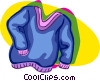 sweater, clothing Vector Clipart graphic