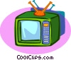 TV set Vector Clip Art picture