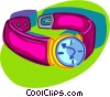 Vector Clip Art image  of a wrist watch