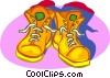 Vector Clipart graphic  of a work boots