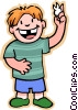 boy with missing tooth Vector Clipart illustration