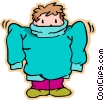boy with big sweater Vector Clip Art picture