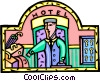 Vector Clipart graphic  of a hotel bellhop