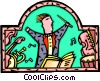 Vector Clipart graphic  of a conductor leading his
