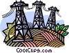 Hydro electric energy, electricity Vector Clipart image