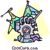 Vector Clipart illustration  of a tightening gears of machinery