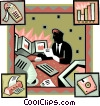 Vector Clip Art image  of a tracking sales