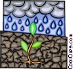 Vector Clipart image  of an acid rain polluting the