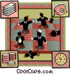 business chess match Vector Clipart picture