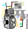 photography, camera Vector Clipart illustration
