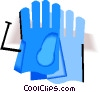 Vector Clipart graphic  of a safety gloves