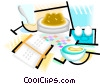 Vector Clip Art graphic  of a breakfast foods