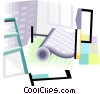Vector Clip Art image  of a wallpaper