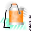 Vector Clip Art image  of a paint can