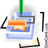 Vector Clip Art picture  of a paint roller with tray