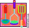 soup ladle, potato masher, burger flipper Vector Clip Art image