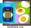 egg slicer with eggs in decorative frame Vector Clip Art picture