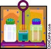 Vector Clipart illustration  of a dining table condiments holder