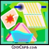 Vector Clip Art picture  of a paper towel and napkins