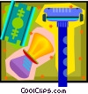 Vector Clipart image  of a shaving kit
