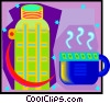 coffee thermos with mug Vector Clip Art image