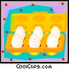 Vector Clipart picture  of a egg container in decorative