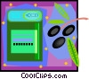 Vector Clipart image  of a fruit drink in decorative